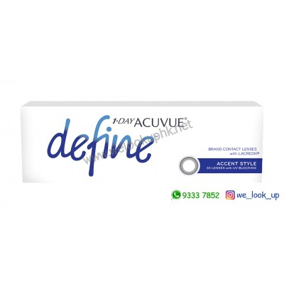 ACUVUE® Define® 1-DAY ACCENT STYLE 亮麗黑 (日棄彩妝隱形眼鏡)