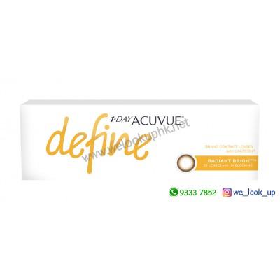 ACUVUE® Define® 1-DAY RADIANT BRIGHT™ 閃鑽啡 (日棄彩妝隱形眼鏡)