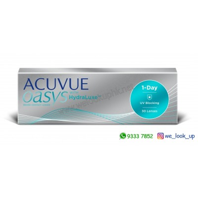 ACUVUE® Oasys 1-DAY WITH HydraLuxe™ (日棄近視/遠視透明隱形眼鏡)