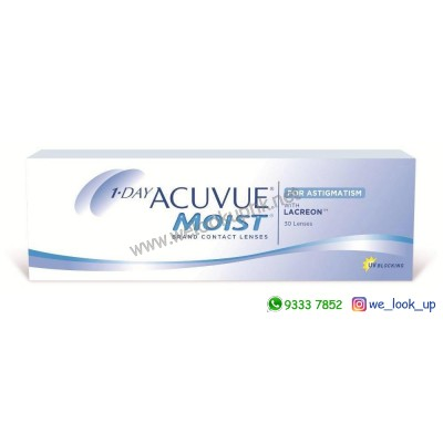 ACUVUE® MOIST® 1-DAY FOR ASTIGMATISM (日棄散光隱形眼鏡)